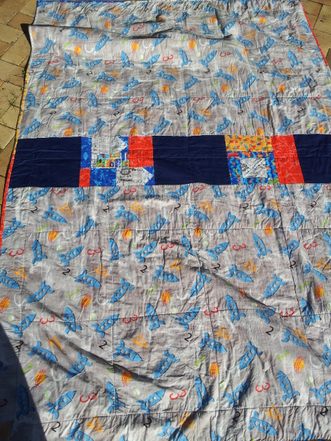 Rocket Quilt - the back